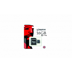 Memoria Micro SD 16GB Kingston c/adap Class 10