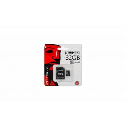 Memoria Micro SD 32GB Kingston c/adap Class 10