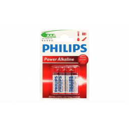 Pack x 4Pilas Philips AAA Alcalinas