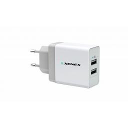 Cargador Xenex 2 Puertos USB (XM-CHA5V3A) Blanco
