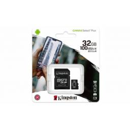 Memoria Micro SD 32GB Kingston c/adap Class 10 100mb/s