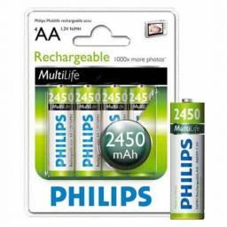 Pack x 4Pilas Philips AA Recargables 2450mAH