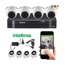 CCTV- KIT DVR (Model: 1080Lite) XVR 4ch + 4 Cam VHL 1120 D Intelbras