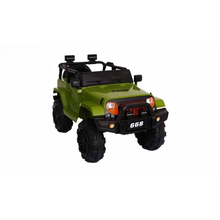 Jeep a Bateria Verde/Rojo/Blanco