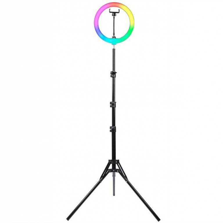 Aro de Luz Maquillaje Xion 10 + Tripode c/RGB (XI-LIGHT1RGB)