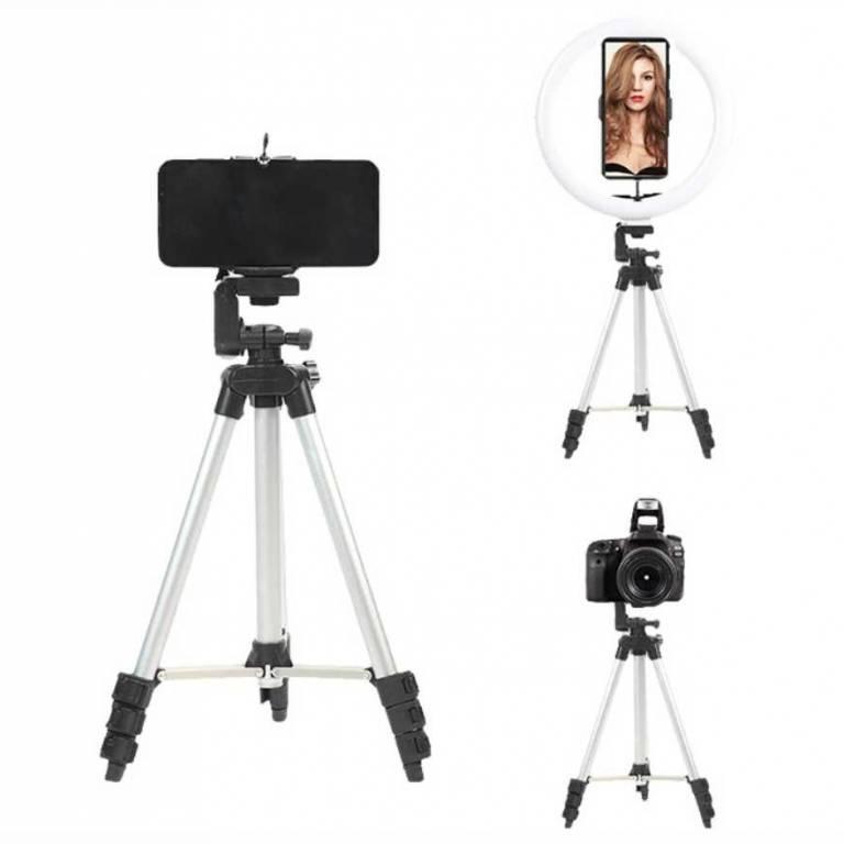 Aro de Luz Maquillaje Xion 10 + Tripode 3 en 1 Bluetooth (XI-LIGHT1100BT)