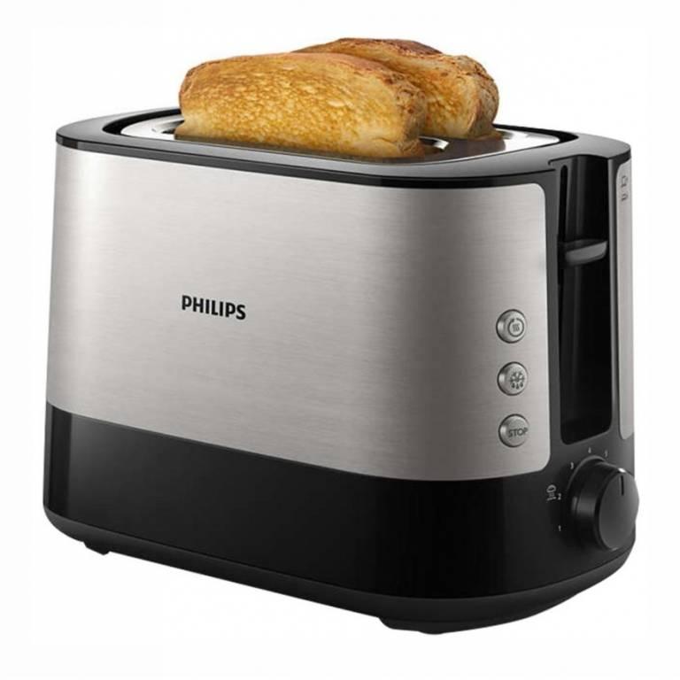 Tostadora Philips 2 Panes Metalica (HD2637/90)
