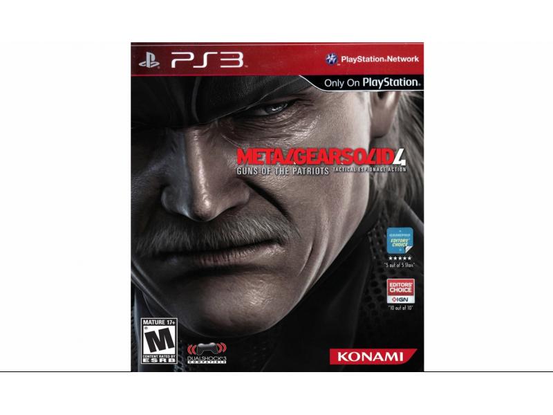 Juego PS3 Metal Gear Solid 4
